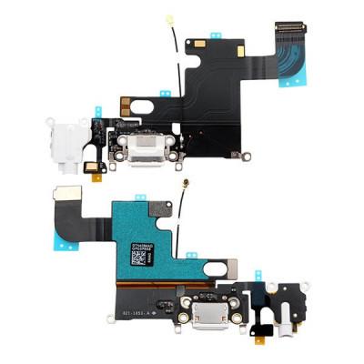 Cavo Flat Connettore Di Ricarica Per Iphone 6 Bianco Dock Audio Microfono