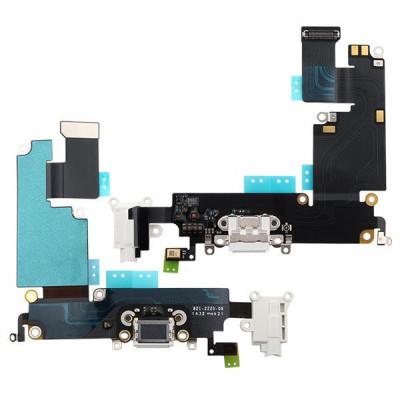 Conector De Carga + Micrófono Para Iphone 6 Plus Blanco