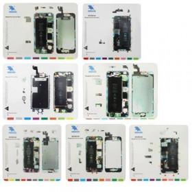 7 en 1 alfombras magnéticas para Iphone 4 4S 5 5S 6 6Plus 6S alfombras de reparación