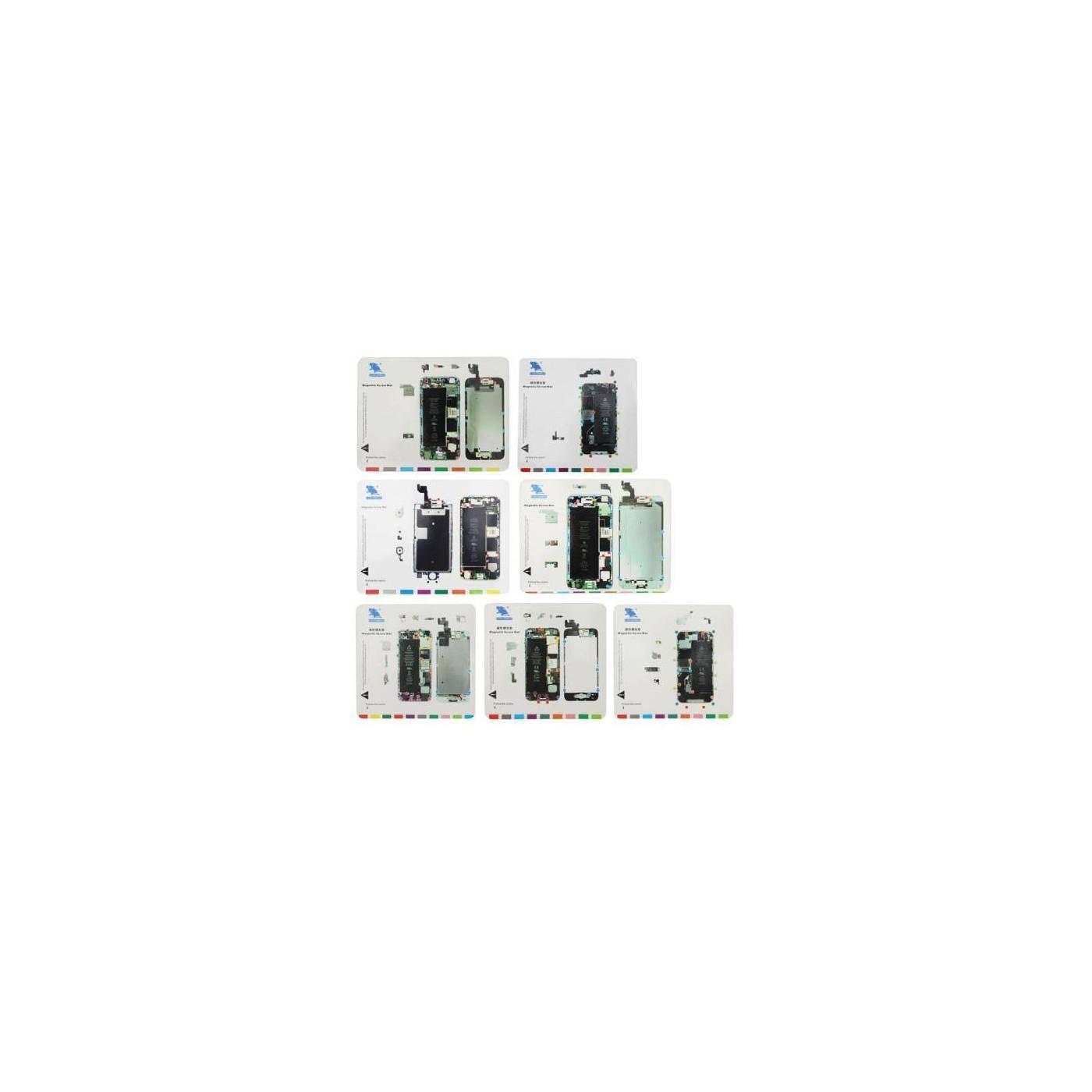 7 in 1 tappeti magnetici per riparazione Iphone 4 4S 5 5S 6 6Plus 6S tappetini