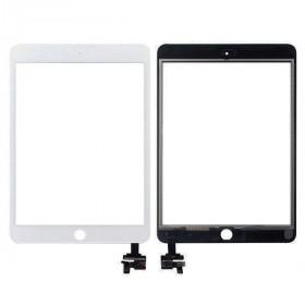 Touch screen per apple ipad mini 3 wifi 3g vetro schermo bianco + adesivo