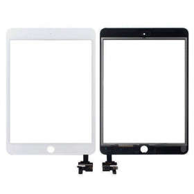Touch screen per apple ipad mini 3 wifi 3g bianco vetro schermo + adesivo