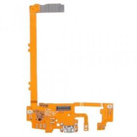Conector de carga plana y flexible para Google Nexus 5 D820 carga de base de datos usb