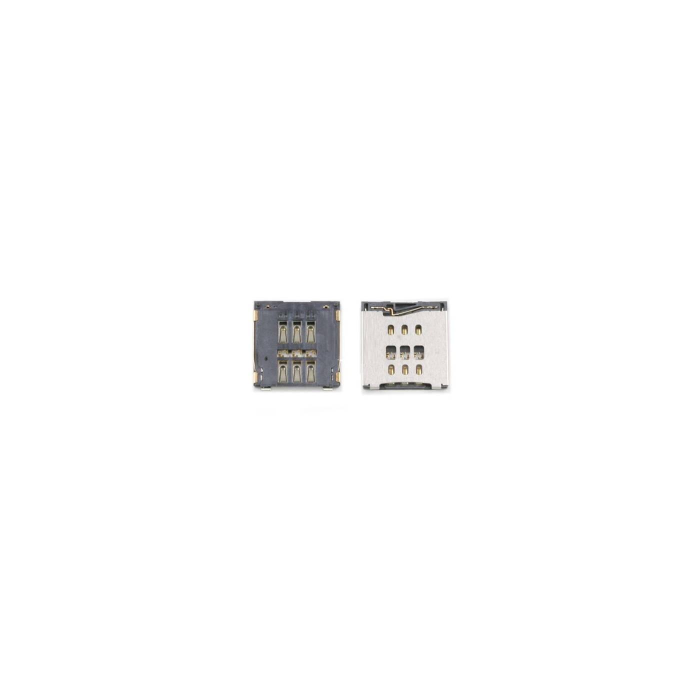 Conector de tarjeta SIM para Iphone 6 nano lector Lector de tarjeta SIM Contacto