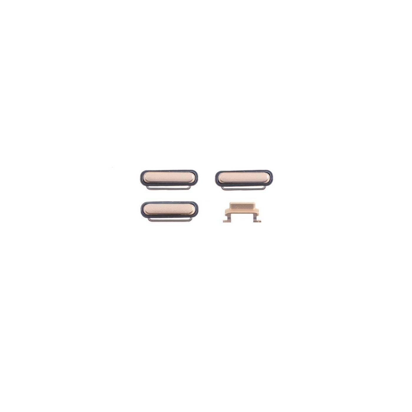 kit 3 in 1 tasti per apple iphone 6 gold accensione volume e silenzioso