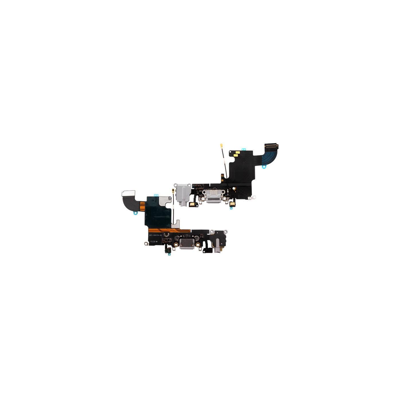 Flacher Flex-Ladeanschluss für iPhone 6S, hellgraues Mikrofon-Dock