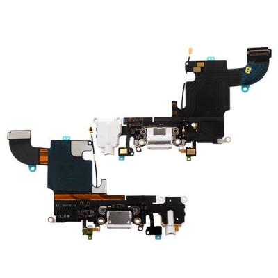 Cavo Flat Connettore Di Ricarica Per Iphone 6S Bianco Dock Audio Microfono
