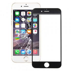 Vetrino vetro iphone 6S PLUS nero schermo touch frontale