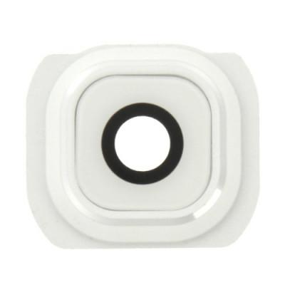 Lente de la lente de la cámara + Marco Samsung Galaxy S6 blanco