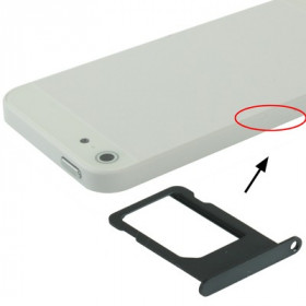 SIM CARD CARD iPhone 5 BLACK SLOT SLIDE TROLLEY REEMPLAZO DE LA BANDEJA