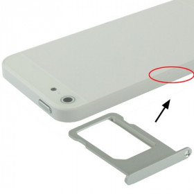 SIM CARD CASE SILVER iPhone 5 SLOT SLIDE CARRITO REEMPLAZO DE LA BANDEJA