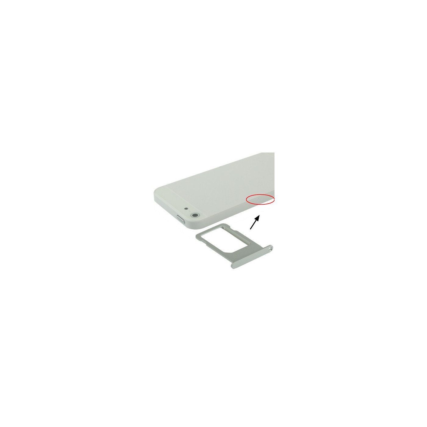 PORT SIM CARD SLOT SLIDE SILVER iPhone 5 TROLLEY TRAY REPLACEMENT