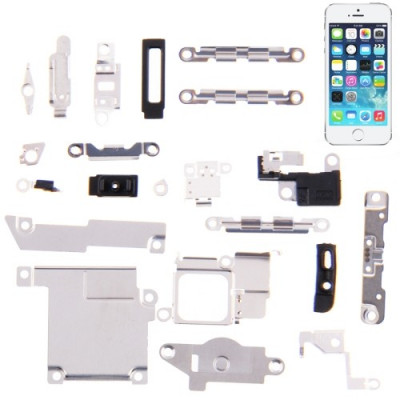 Set 21 In 1 Staffe Placche Metalliche Per Iphone 5S Scheda Madre Display Cover