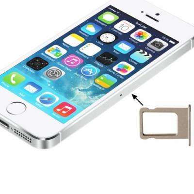 Porta Sim Scheda Per Iphone 5S Golden Slot Slitta Carrello Vassoio Ricambio