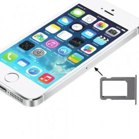 PORTA SIM SCHEDA iPhone 5S SLOT SLITTA CARRELLO VASSOIO RICAMBIO SILVER