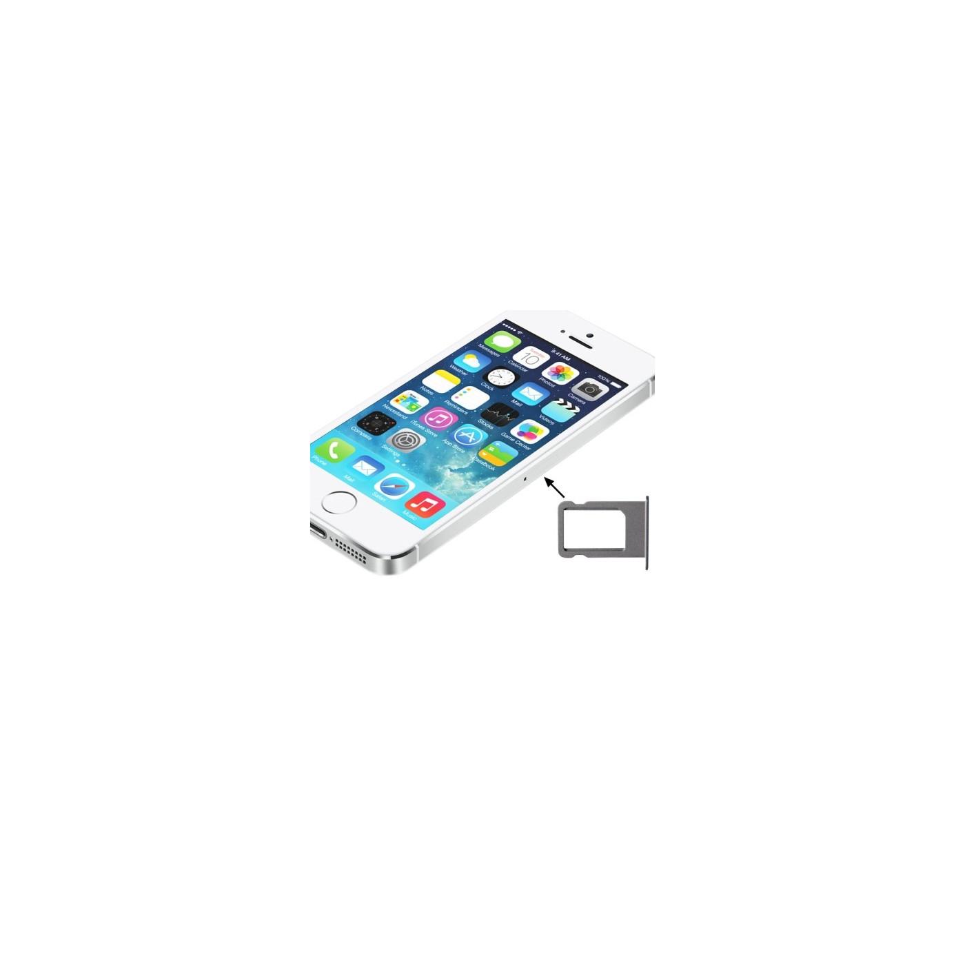 SOPORTE TARJETA SIM iPhone 5S SLOT SLIT TROLLEY BANDEJA PLATA BANDEJA