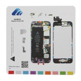 Alfombra magnética para reparar iPhone 5 herramientas 20 cm x 20 cm alfombra