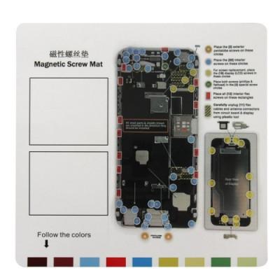Alfombrilla de reparación de imán para iPhone 6 Más herramientas Tapete de 26 cm x 25 cm
