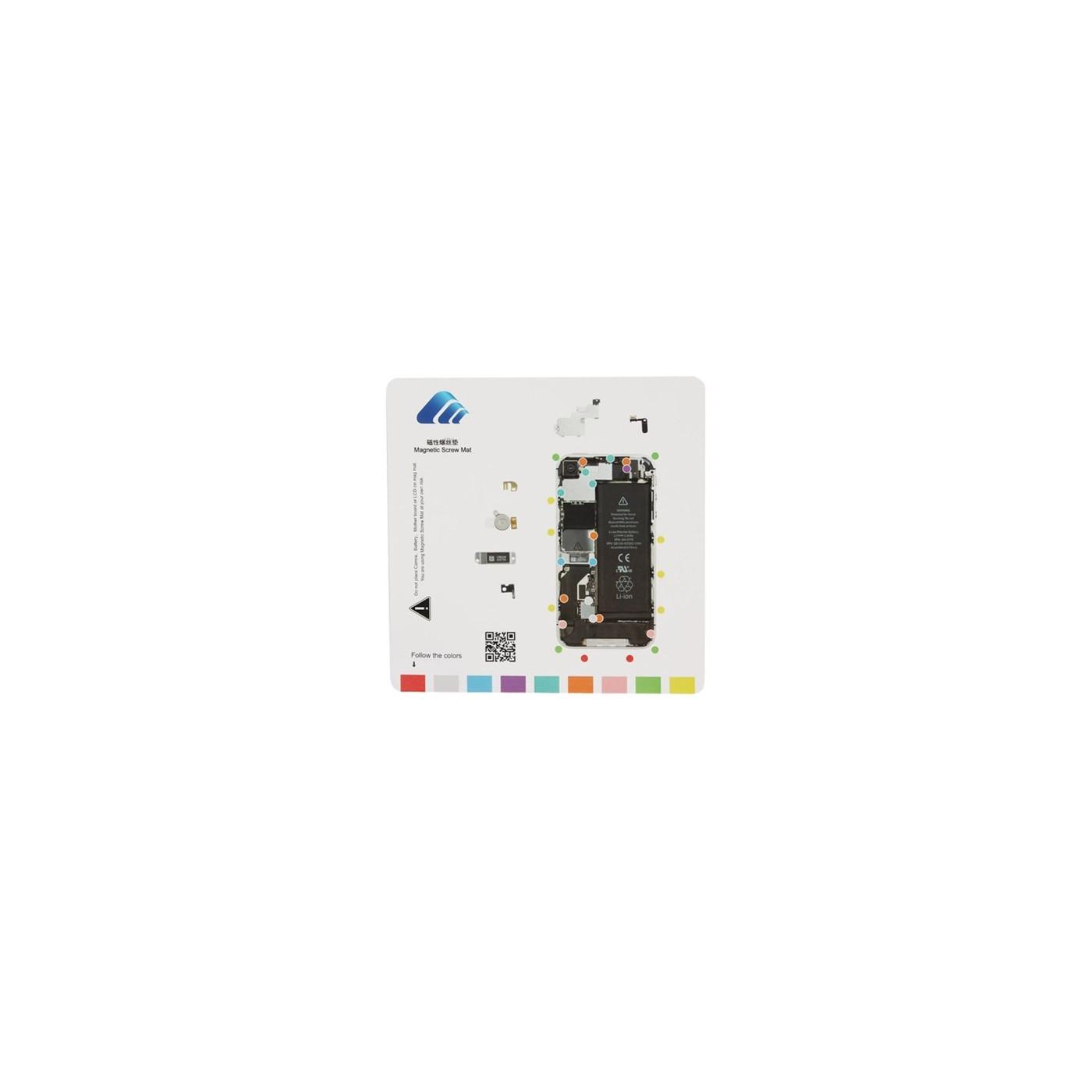 Tapis de réparation magnétique pour iPhone 4s mat 20 cm x 20 cm mat