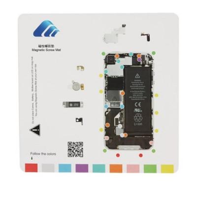 Tappeto Magnetico Per Riparazione Iphone 4S Tools 20 Cm X 20 Cm Tappetino