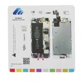 Alfombrilla de reparación de imán para herramientas iPhone 5s 20 cm x 20 cm alfombra
