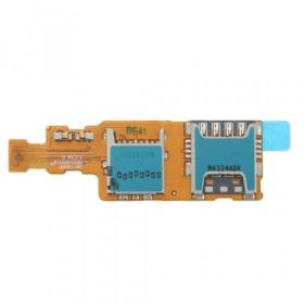 Flex flat sim card reader and Micro SD slot for Samsung Galaxy S5 Mini G800F