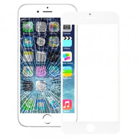 Vetro vetrino frontale per apple iphone 6s bianco touch screen