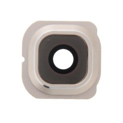 Objectif pour appareil photo + Cadre pour objectif en or Objectif pour appareil photo Samsung Galaxy S6 Edge G925