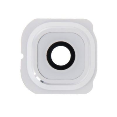 Lente fotocamera Camera Lens + Frame bianco Holder Samsung Galaxy S6 Edge G925