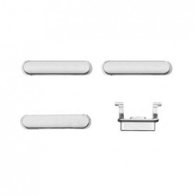 kit 3 in 1 tasti per apple iphone 6 silver accensione volume e silenzioso