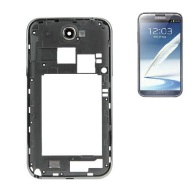 Marco trasero del marco para Galaxy Note II - Marco negro N7100