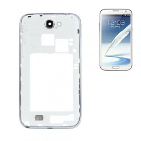 Frame Rear frame for Galaxy Note II - N7100 white frame