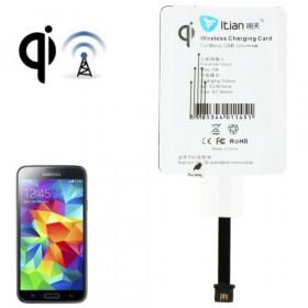 Receptor de carga inalámbrico con conector usb micro de 5 pines estándar Qi