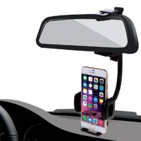Soporte para teléfono inteligente de hasta 5.5 pulgadas para soporte de espejo para automóvil