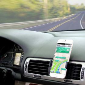 Puerto de teléfono inteligente de hasta 5.5 pulgadas para soporte de ventilador de aire del automóvil