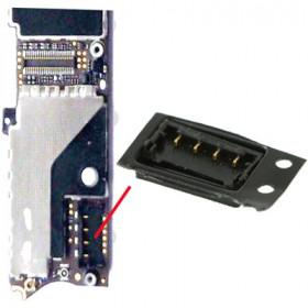 Connecteur de batterie Iphone 4s soudé Contacts du connecteur de batterie