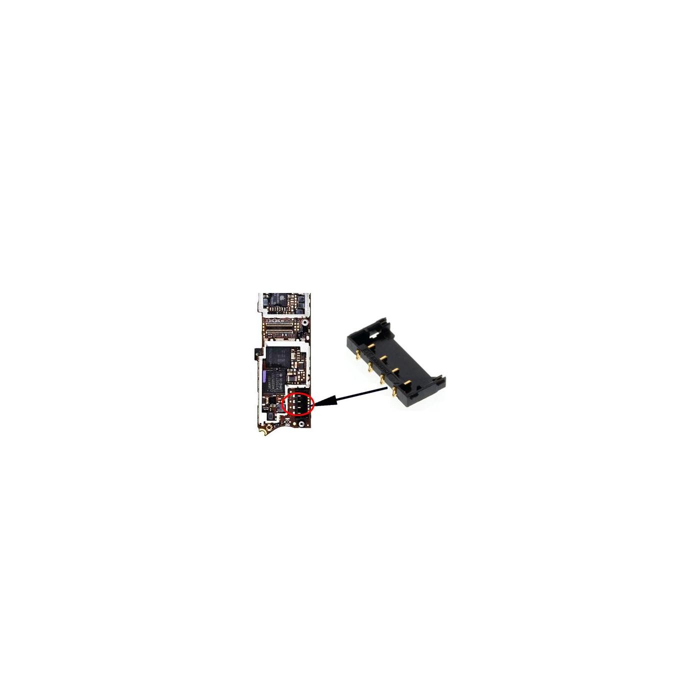 Connecteur de batterie Iphone 4 Contacts de connecteur de batterie soudés
