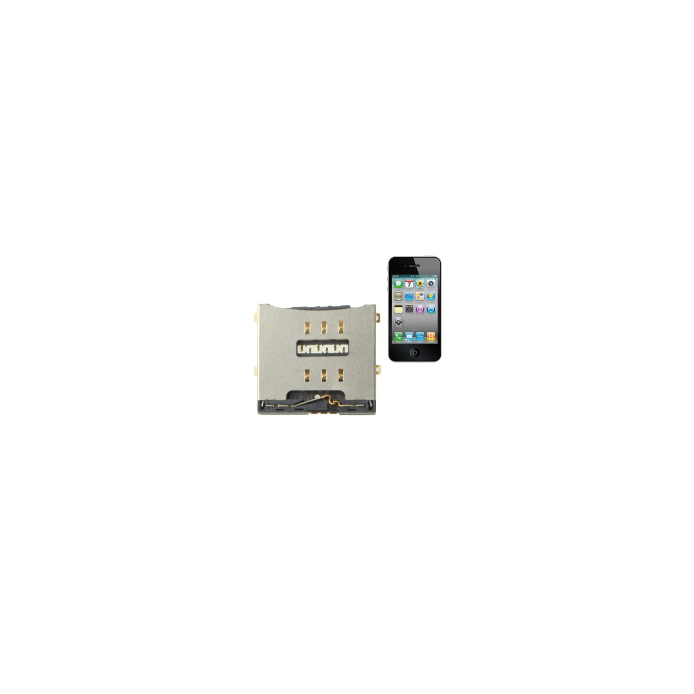 iPhone sim card connector 4 - 4S sim reader Reader Contact