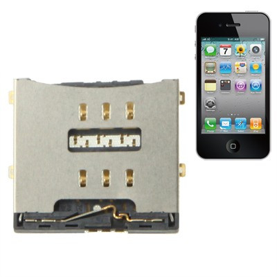 Connettore sim card iPhone 4 - 4S lettore sim Reader Contact
