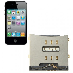 Connettore sim card per iPhone 4 lettore sim Reader Contact