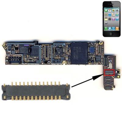 Connettore Lcd Fpc Per Iphone 4 Schermo Dispaly Da Saldare