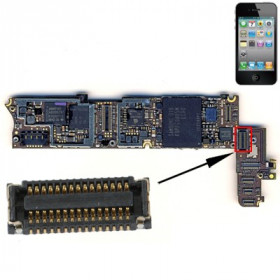 Conector digitalizador FPC scree touch para iPhone 4 para ser soldado