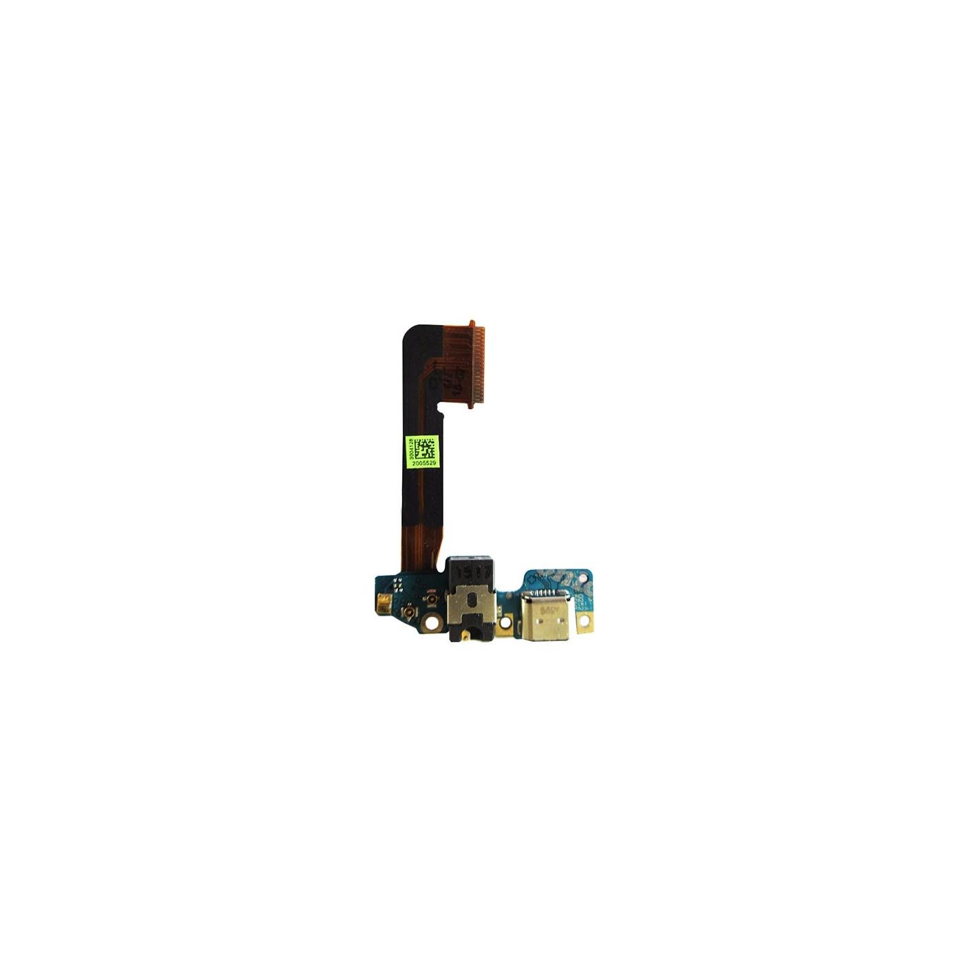 Conector de carga plana y flexible para toma de auriculares con puerto de carga HTC One M9
