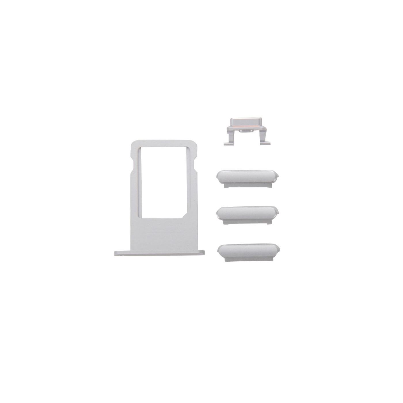 Kit keys 3 en 1 volumen de energía iPhone 6s plateado + titular de tarjeta sim