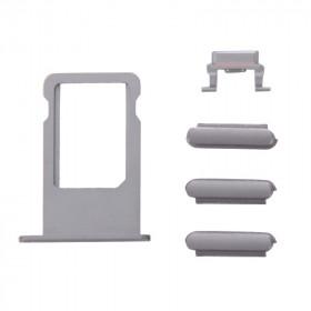 Kit-Tasten 3 in 1 Lautstärke iPhone 6s Plus grau + Kartenhalter sim