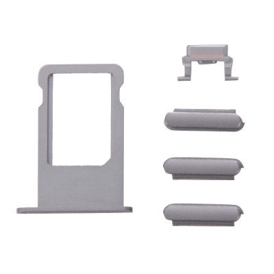 Kit de llaves 3 en 1 de potencia de volumen iPhone 6s Plus gris + titular de tarjeta sim