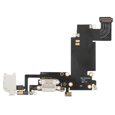 Cavo Flat Connettore Di Ricarica + Microfono Per Iphone 6S Plus Bianco