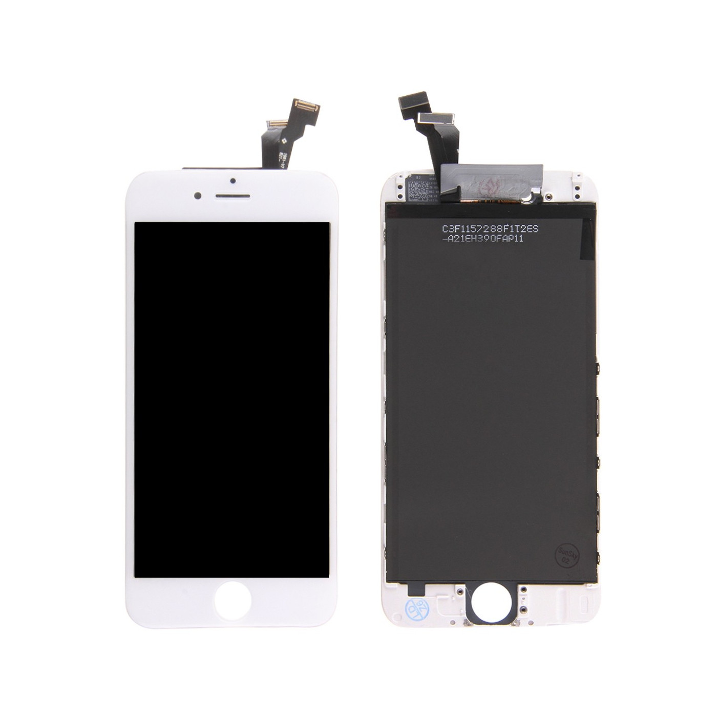Touch screen display LCD per apple iphone 6 bianco frame vetro retina