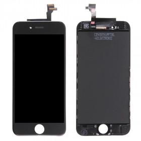 Pantalla táctil LCD para el marco de cristal de retina negra de apple iphone 6
