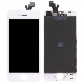 Pantalla táctil + pantalla LCD + marco para pantalla de cristal blanca de Apple iPhone 5